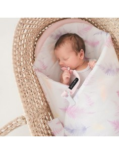 Rożek/ mata niemowlęca Paprocie róż
