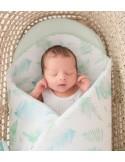Rożek/ mata niemowlęca Paprocie mięta