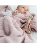 ColorStories Kocyk tkany CottonClassic Perłowy Róż