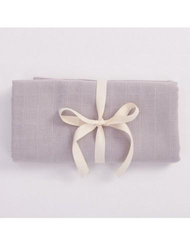 Otulacz muślinowy z bawełny organicznej 100x100cm - Szary