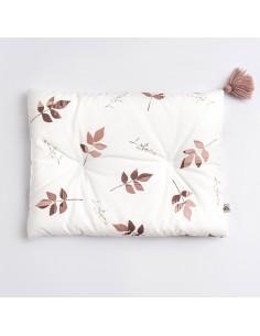 Poduszka 30x40cm Denim Dirty Pink Leaves