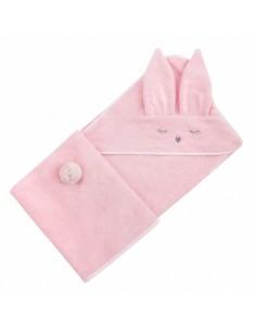 Ręcznik Bambusowy Króliczek Różowy 90x90cm