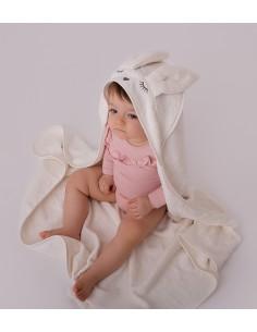 Ręcznik Bambusowy Króliczek Kremowy 90x90cm