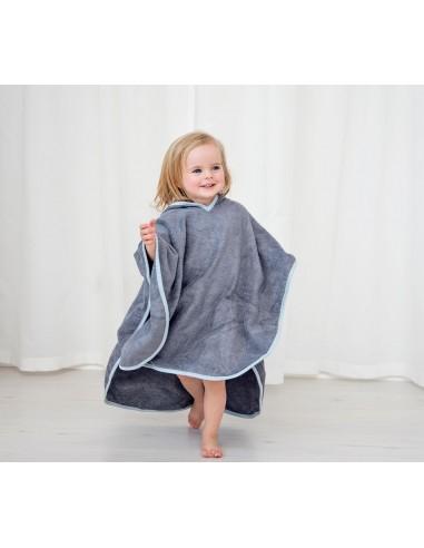 Ręcznik Ponczo pastele szary