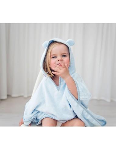 Ręcznik Ponczo pastele błękit