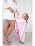 Ręcznik Ponczo pastele róż