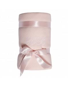 Pokrowiec na przewijak pikowany różowy