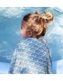 Pieluszki Bambusowe - Fish + Blue Ocean 75x75cm DWUPAK