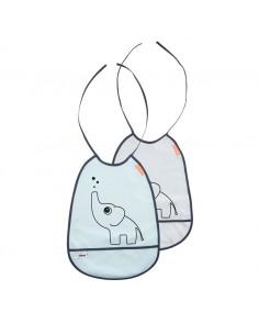 Śliniaki Słoń Elphee Blue/ Grey Dwupak