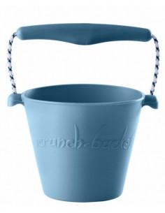 Zwijane wiaderko silikonowe Błękitne