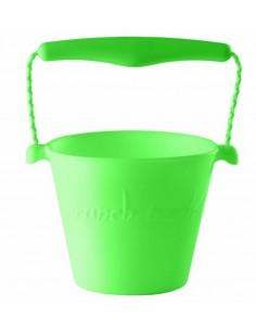 Zwijane wiaderko silikonowe Fluo Zielone