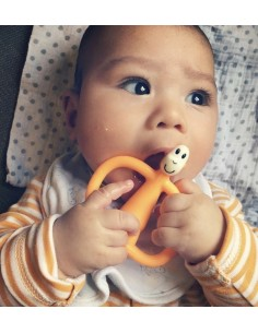 Gryzak Masujący ze Szczoteczką Matchstick Monkey Pomarańczowy