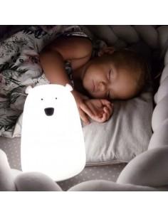 Lampka silikonowa Miś Duży Biały
