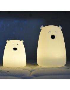 Lampka silikonowa Miś Mały Biały