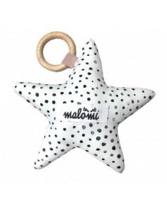 Grzechotka Gwiazdka Dots Dusty Pink