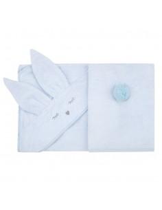 Ręcznik Bambusowy Króliczek Błękitny 90x90cm