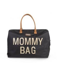 Torba podróżna Mommy Bag Czarna złote napisy