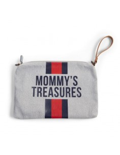Torebka Mommy's Treasures paski granatowo-czerwone