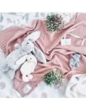 Kocyk S tkany CottonClassic 75x90 Zamglony Róż