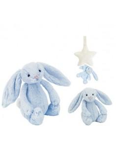 Pozytywka króliczek błękitny z gwiazdką