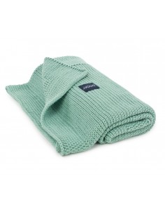 Kocyk tkany z bawełny organicznej 90x75cm Mięta Polna