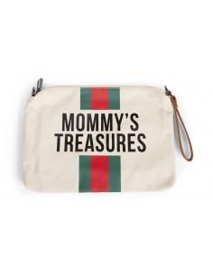 Torebka Mommy's Treasures paski zielono-czerwone