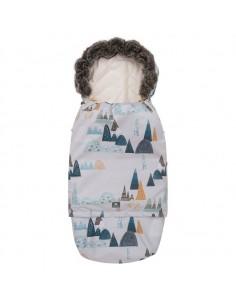 Śpiworek SUPERB Eskimo do wózka, fotelika, gondoli rośnie z dzieckiem góry ivory