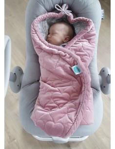 Otulacz do fotelika różowy 0-12 miesięcy