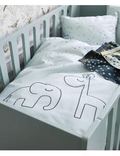 Poszewki na pościel dziecięcą Dreamy Dots Blue 100x135cm