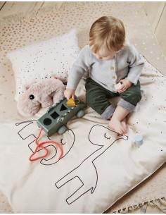 Poszewki na pościel dziecięcą Dreamy Dots Powder 100x135cm