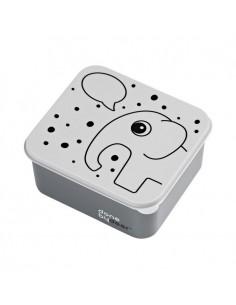 Lunchbox Dots Słonik Elphee Szary