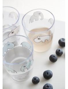 Kubek Mini Glass Contour Blue