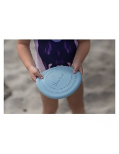 Frisbee silikonowe Scrunch Błękitne