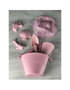 Zwijane wiaderko silikonowe Pudrowy Róż