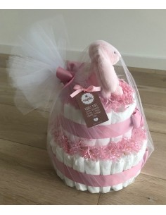 Tort Pieluszkowy Słodki Króliczek Różowy