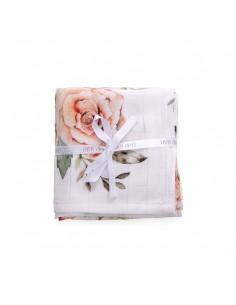 Chusteczki muślinowe Vintage Flowers 4pak 30x30cm, Qbana Mama