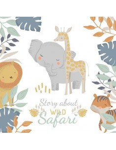 Otulacz bambusowy 75x75 Wild Safari, Colorstories