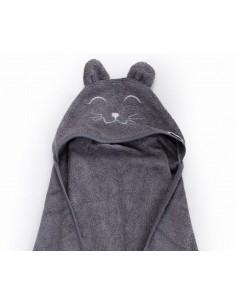 Ręcznik BAMBUSOWY dziecięcy ciemny szary M, Qbana Mama