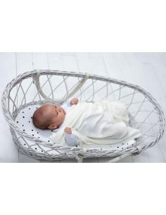 Kocyk bambusowy Ultra Soft Silky White 80x100cm, Sleepee
