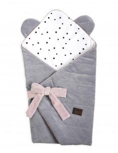 Rożek niemowlęcy Royal Baby Grey/Pink, Sleepee