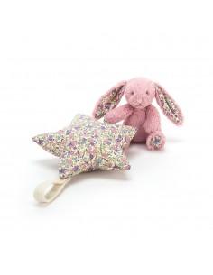 Pozytywka króliczek blossom z gwiazdką, Jellycat