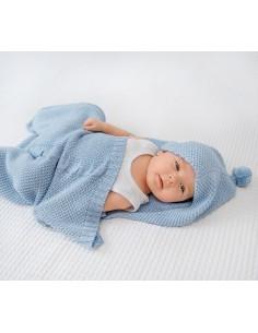 Śpiworek-kocykowy do spania - błękitny, Lullalove
