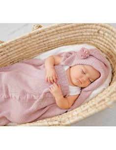 Śpiworek-kocykowy do spania - pudrowy róż, Lullalove
