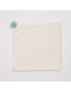 Bambusowy ręcznik niemowlęcy 75x75cm Niebieski, Bim Bla