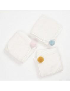 Bambusowy ręcznik niemowlęcy 75x75cm Różowy, Bim Bla
