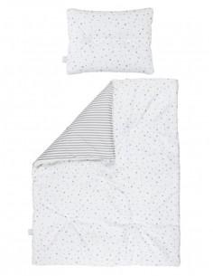 Dwustronna pościel z wypełnieniem 90×120 Szara, Bolo