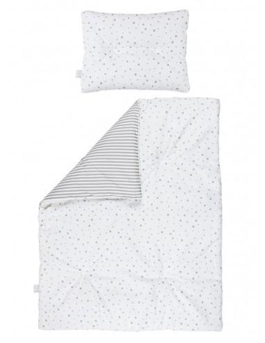 Dwustronna pościel z wypełnieniem 75×95 Szara, Bolo
