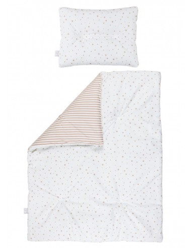 Dwustronna pościel z wypełnieniem 75×95 Beżowa, Bolo