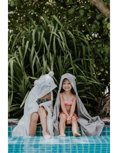 Ręcznik BAMBUSOWY dziecięcy jasny szary M, Qbana Mama