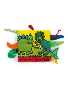 Książeczka Dino z ogonami 21cm, Jellycat